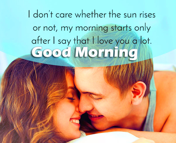Love Romantic Couple Quotes Good Morning Image