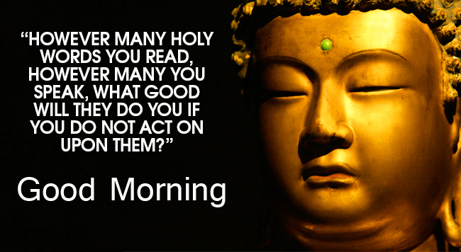 Lovely Buddha Quotes with Good Morning Wish