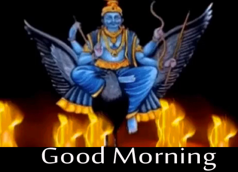 Lovely Good Morning Message with Shani Dev Pic
