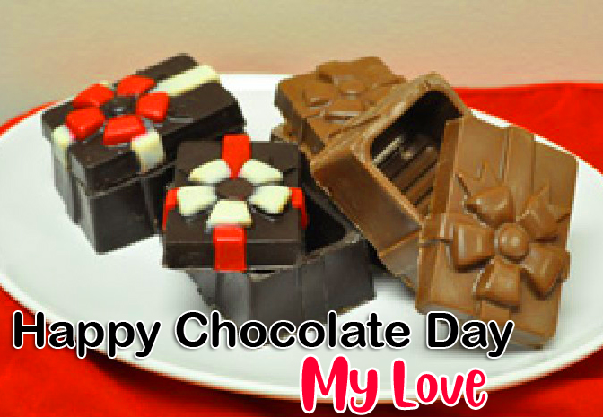Lovely Happy Chocolate Day My Love Image