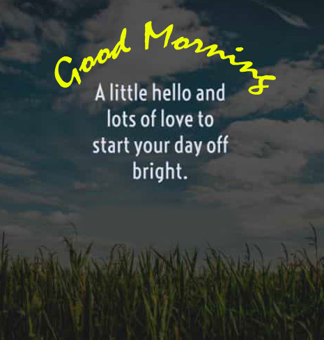 Lovely Hello Quotes Good Morning Image