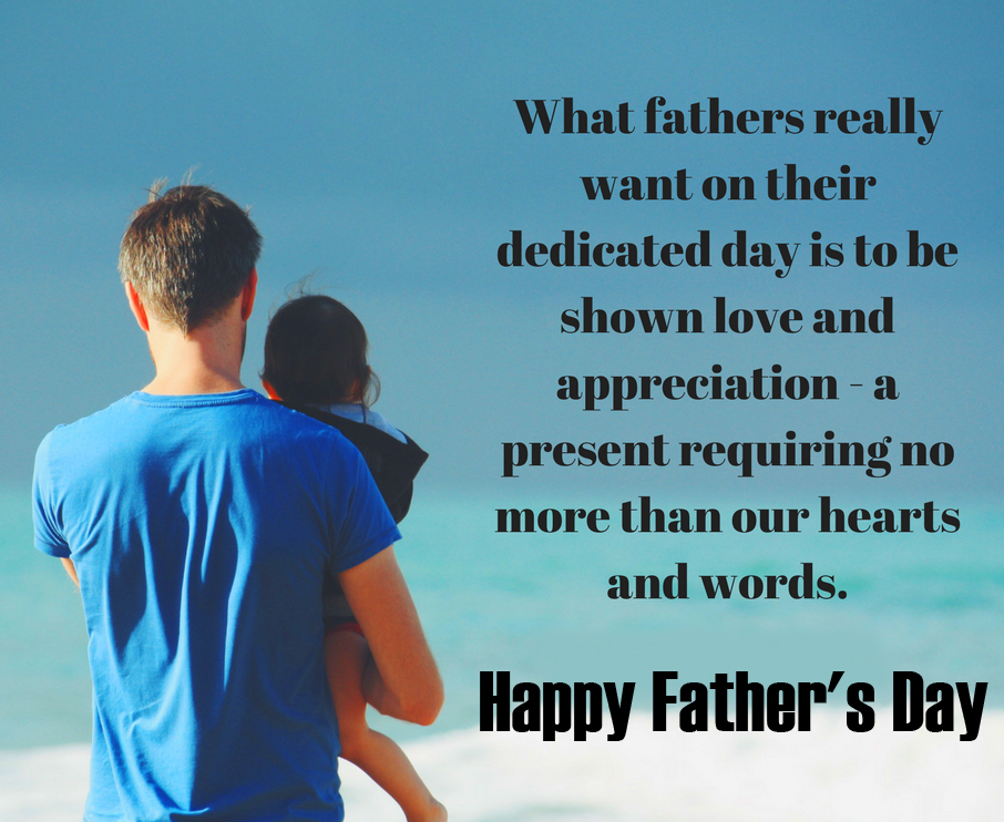 Lovely Quotes with Happy Fathers Day Message