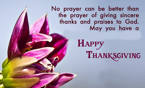 Lovely Quotes with Happy Thanksgiving Message