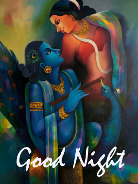 Lovely Radha and Krishna Good Night Image HD