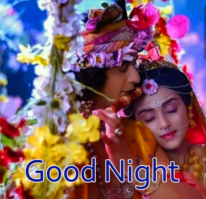 Lovely Radha and Krishna Good Night Pic