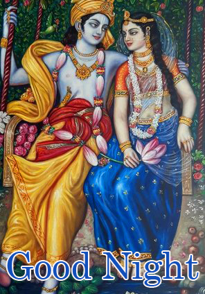 Lovely Radha and Krishna Good Night Picture