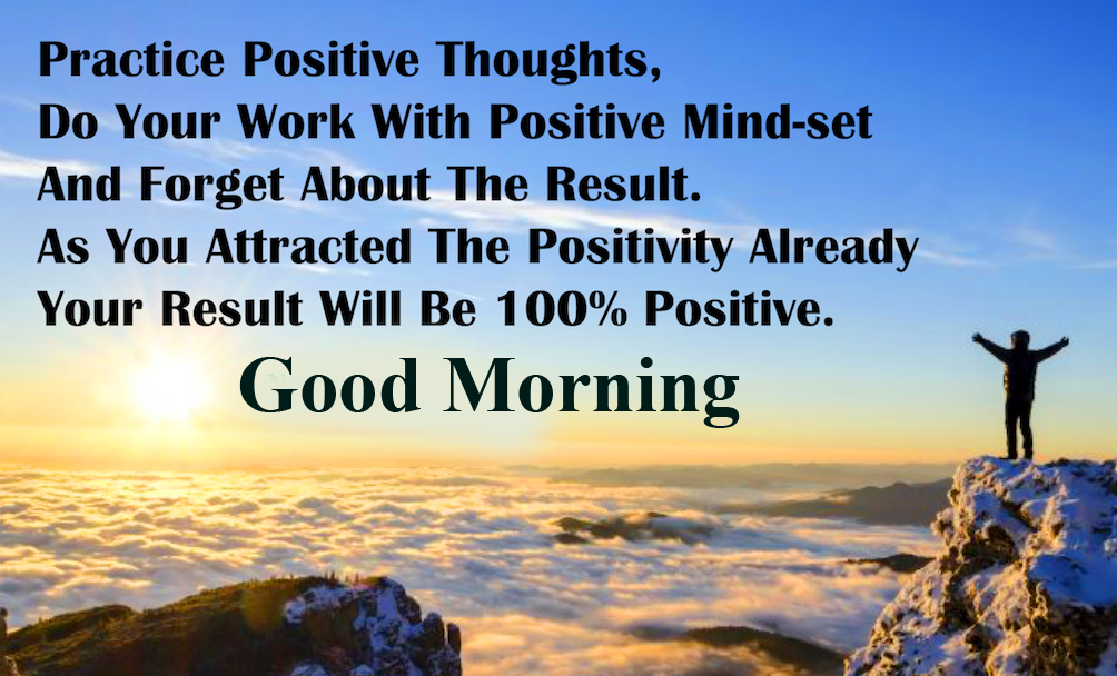 Lovely and Positive Quotes with Good Morning Wish
