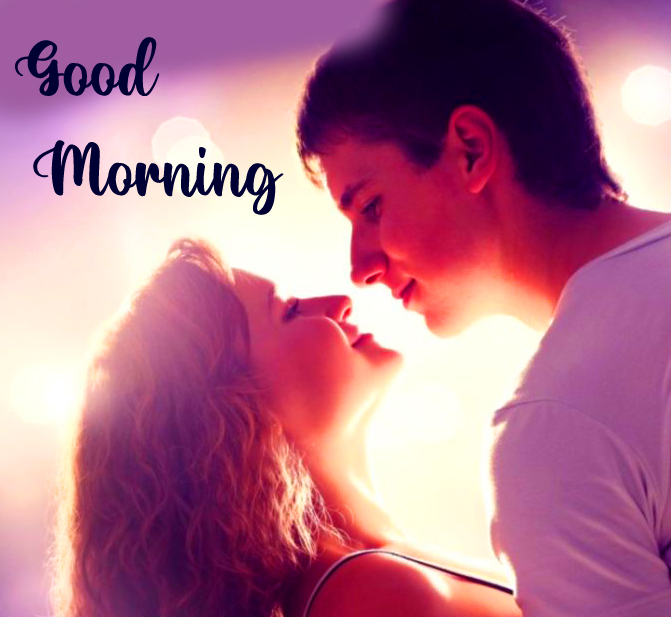 Lovely and Romantic Couple Good Morning Image