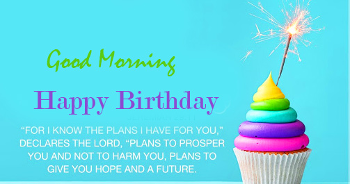 Lovely and Sparkling Happy Birthday Good Morning Wish
