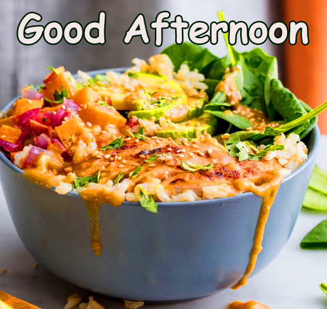Lunch Bowl with Good Afternoon Wish