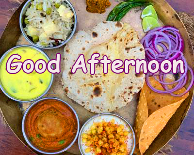 North Indian Lunch Good Afternoon Pic
