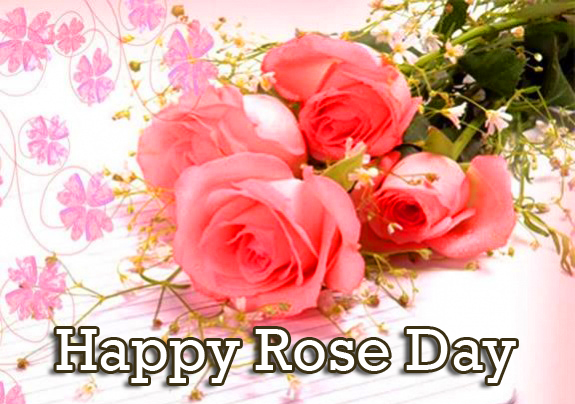 Pink Roses with Happy Rose Day Wish