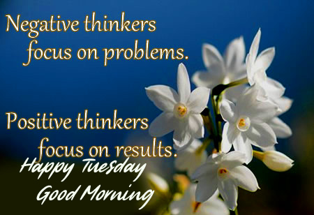 Positive Quotes Good Morning Happy Tuesday Image