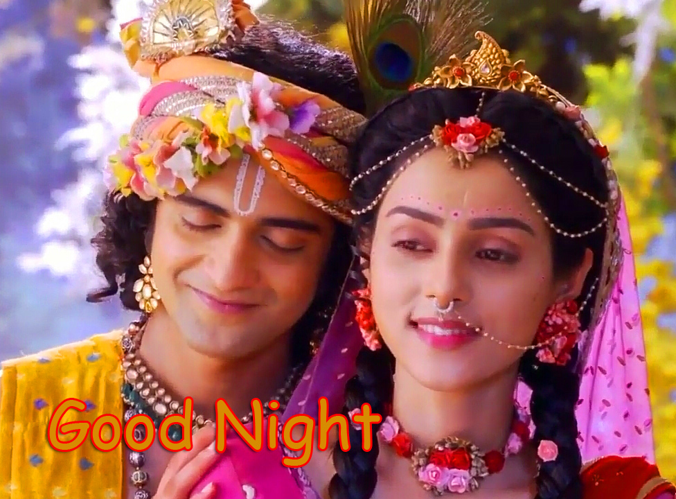 Radha Krishna Good Night Image