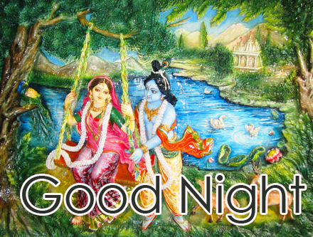 Radha Krishna Good Night Picture HD