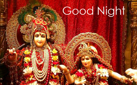 Radha Krishna HD Good Night Image