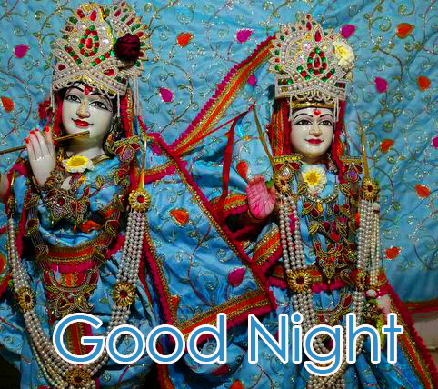 Radha and Krishna Good Night HD Photo