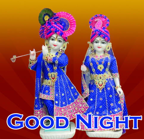 Radha and Krishna Good Night Image HD