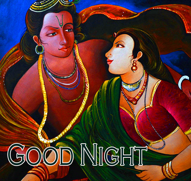 Radha and Krishna Good Night Picture