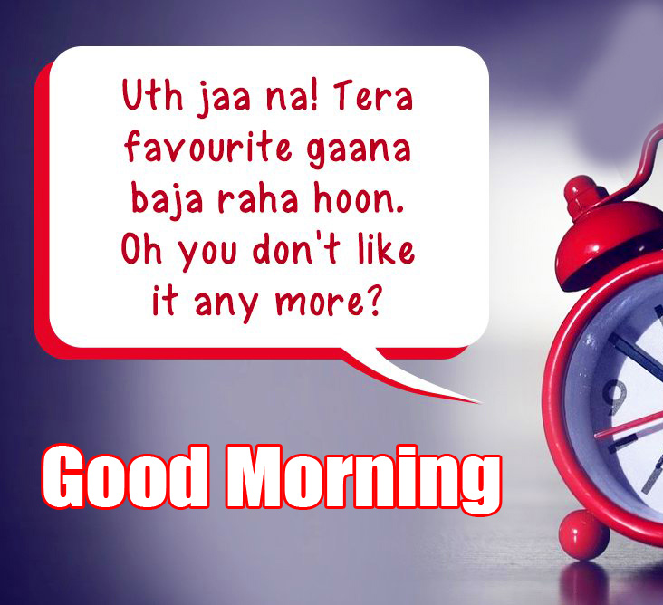 Red Clock with Good Morning Wish