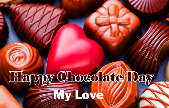 Red Heart Happy Chocolate Day My Love Image