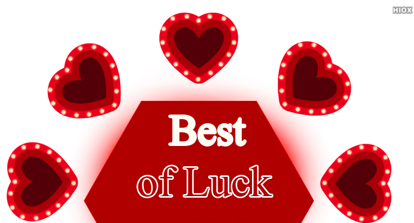 Red Hearts Best of Luck Photo