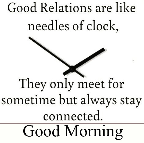Relations Time Quotes Good Morning Image