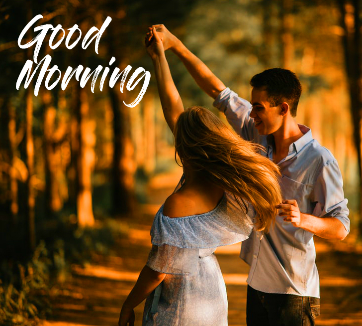 Romantic Couple Good Morning Photo