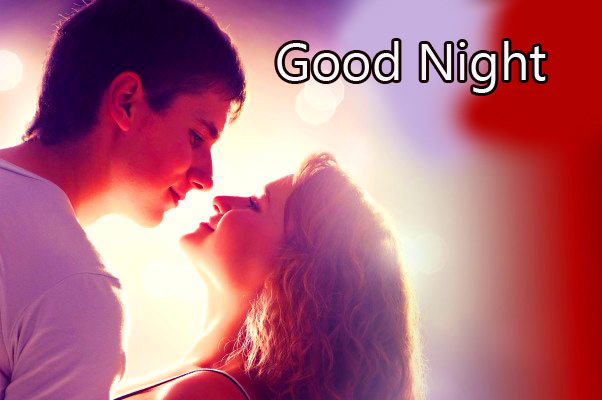 Romantic Couple Good Night Image