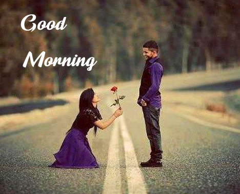 Romantic Couple Good morning Image