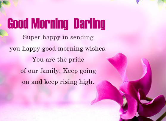Romantic Good Morning Darling Image with Quotes