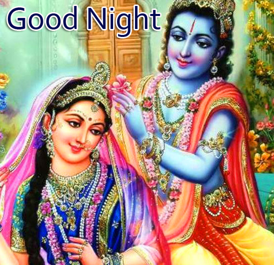 Romantic Radha Krishna Good Night Pic