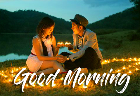 Romantic and Lovely Couple Good Morning Image