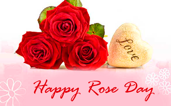 Roses with Happy Rose Day Wish