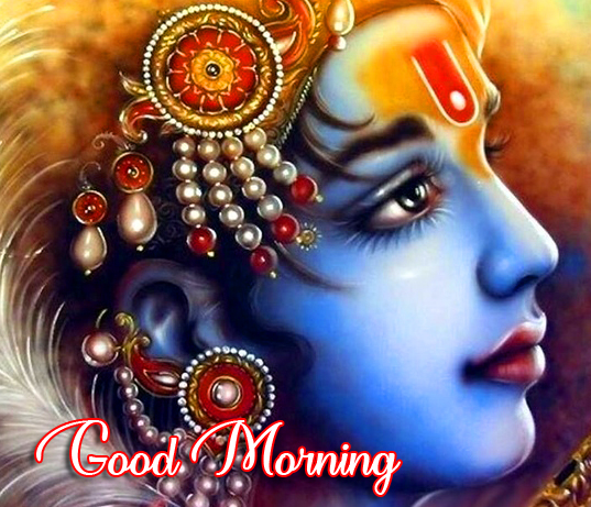 Shree Krishna Good Morning Image