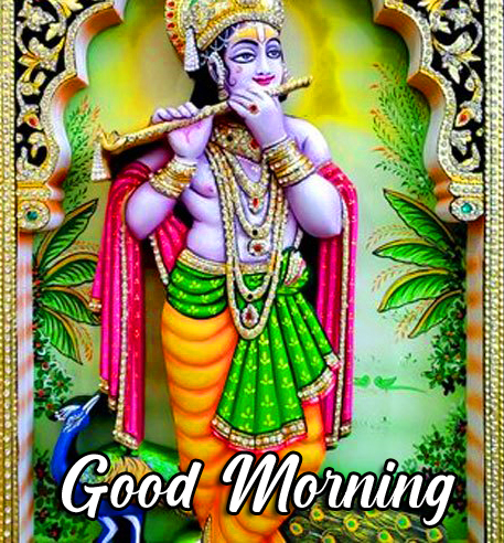 Shri Krishna Good Morning Image