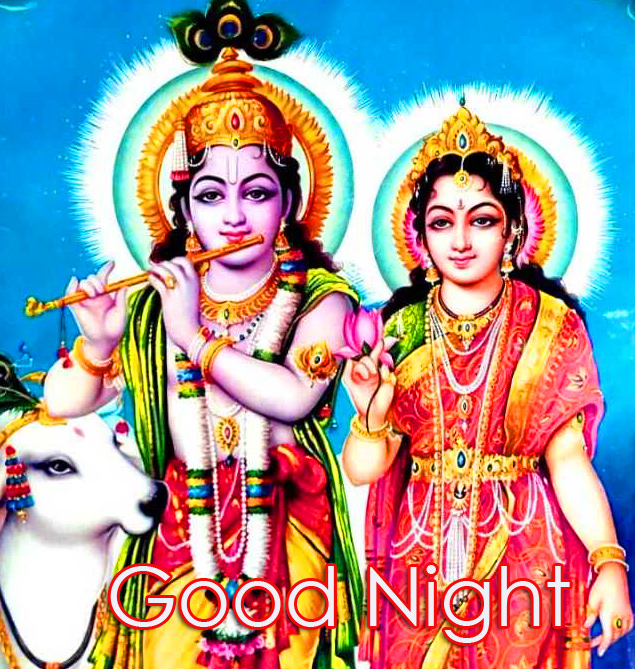 Shri Radha Krishna Good Night Pic