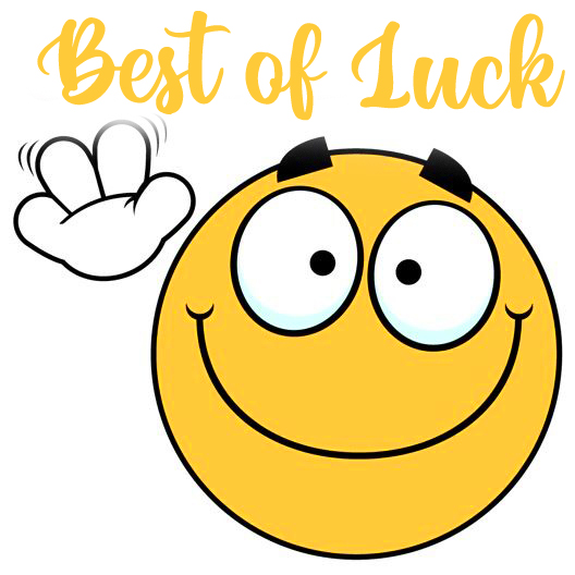 Smiley with Best of Luck Message