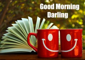Smiling Coffee Cup Good Morning Darling Image