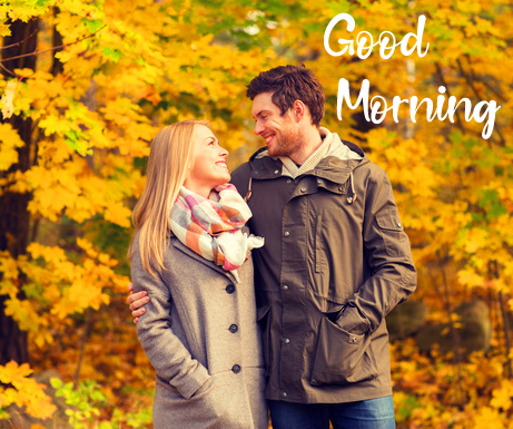 Smiling Couple Good Morning Image