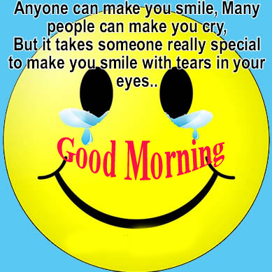Smiling Quotes with Good Morning Wish