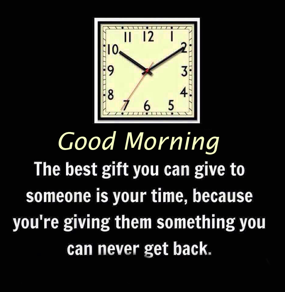 Square Clock with Good Morning and Quotes