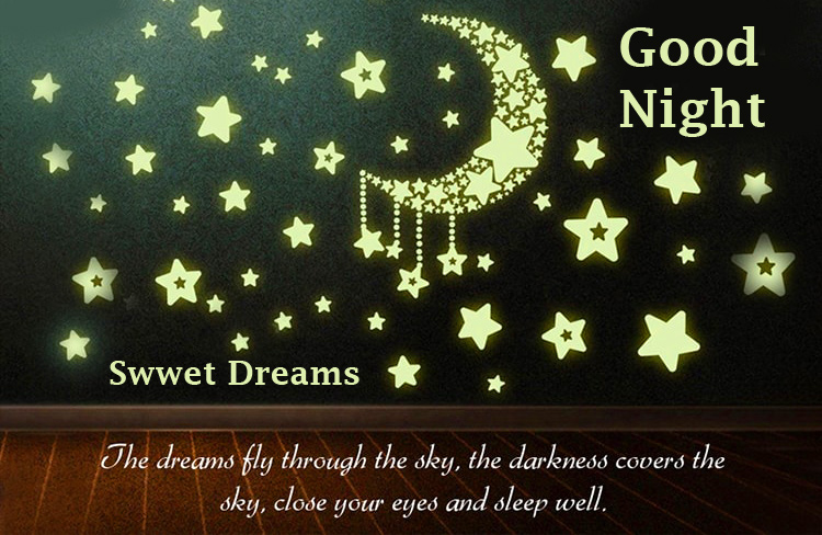 Stars and Moon Good Night Sweet Dreams Message Pic