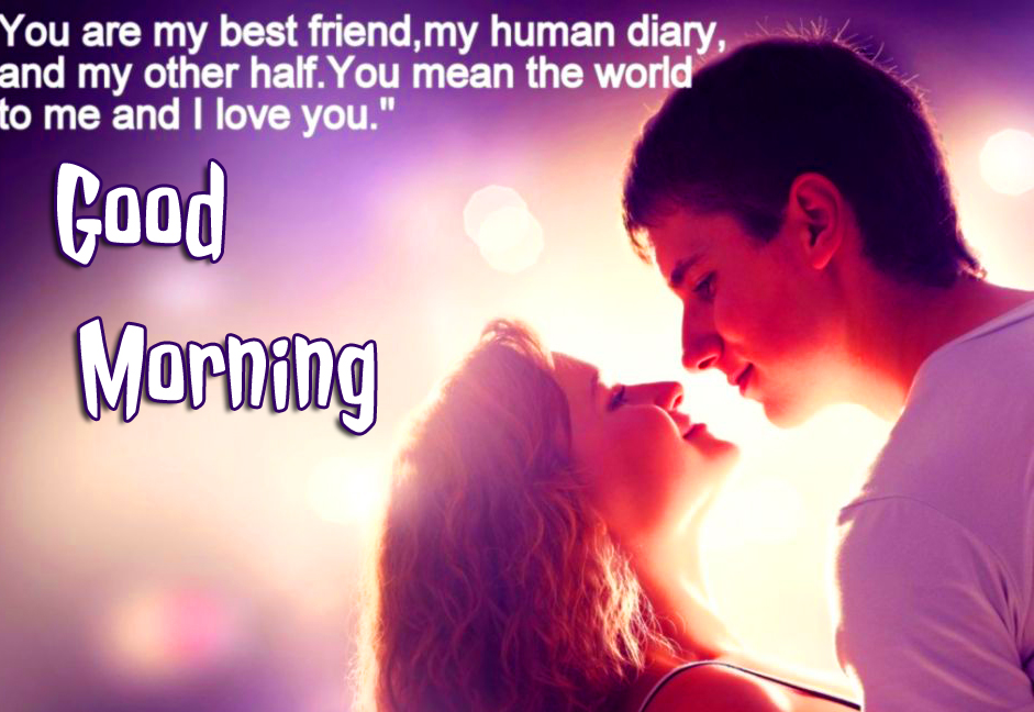 Sweet Couple with Quotes and Good Morning Wish