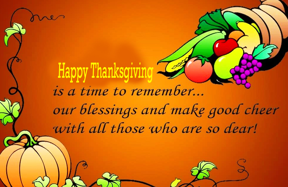 Thoughtful Happy Thanksgiving Wishing Picture