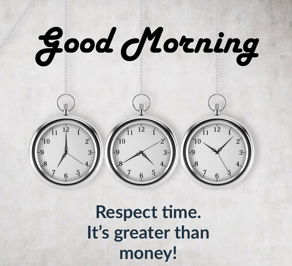 Time Quotes Good Morning Image