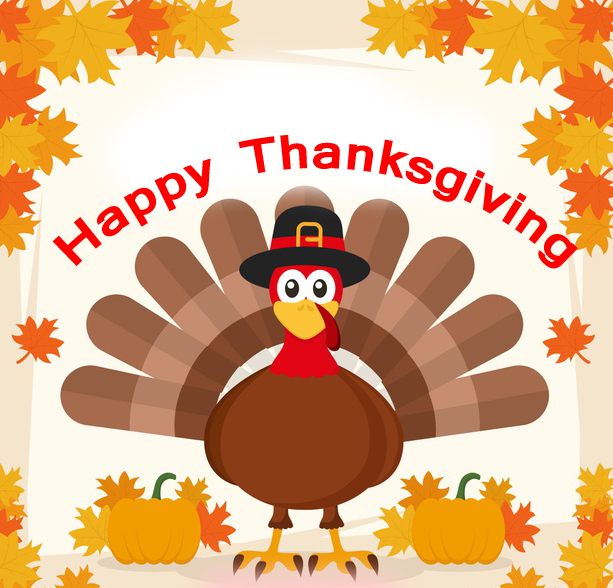 Turkey Happy Thanksgiving Message Pic
