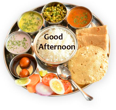 Veg Indian Lunch Good Afternoon Image
