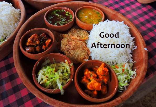 Veg Thali Lunch Good Afternoon Pic