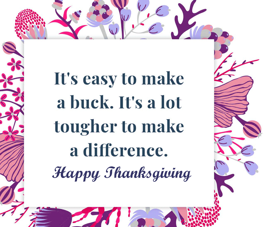 Wishing Quotes with Happy Thanksgiving Message